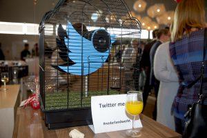 Aandacht voor Twitter op het AWVN-jaarcongres in 2016.